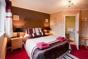 Our double room with en suite shower room